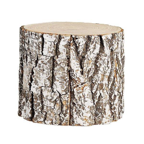 Tronco de Árvore Marrom Nevado 15cm - 01 unidade - Cromus Natal - Rizzo Embalagens