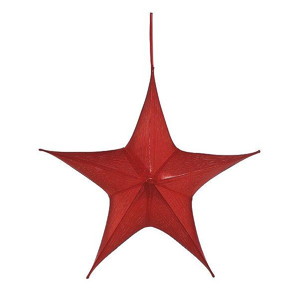 Estrela Aérea Decorativa Vermelho 90cm - 01 unidade - Cromus Natal - Rizzo Embalagens