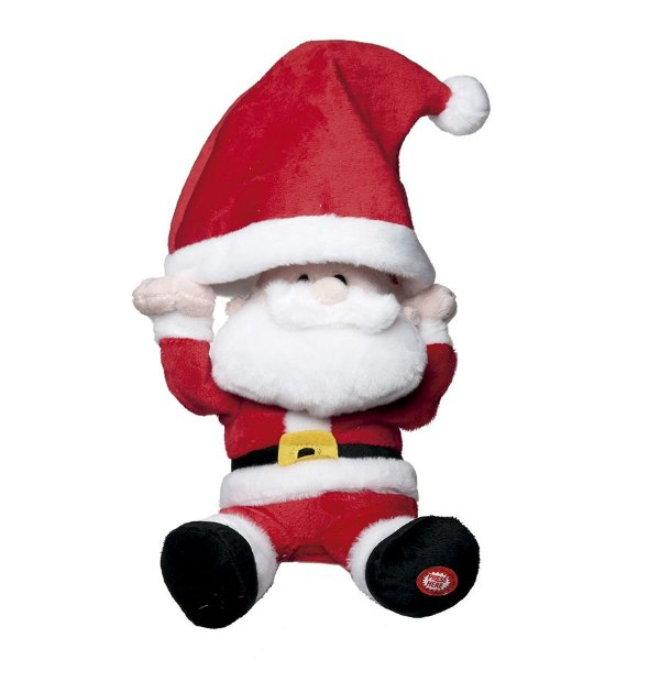 Papai Noel com Som e Movimento com Toca 31cm - 01 unidade - Cromus Natal - Rizzo Embalagens