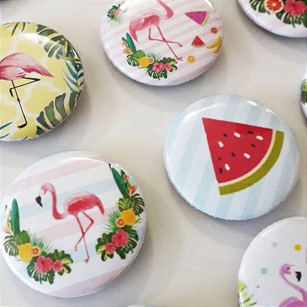 Bottom para Lembrancinha Festa Flamingo - 12 unidades - Rizzo Embalagens