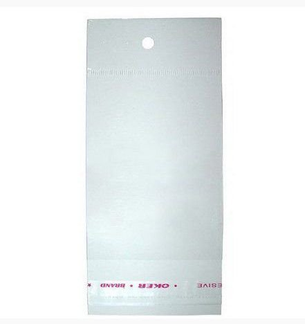 Saco Adesivado c/ Furo para Pendurar 8cm x 15cm - Rizzo Embalagens