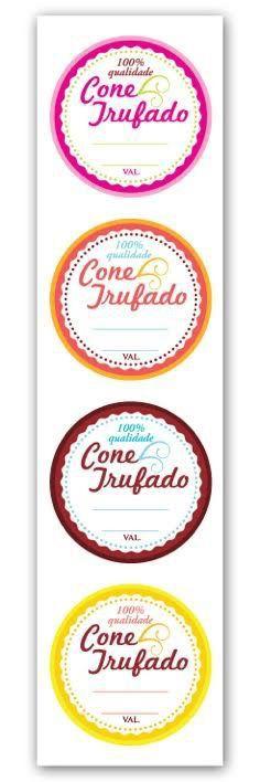 Etiqueta Adesiva Cone Trufado Color Cod. 6285 - 20 unidades - Miss Embalagens - Rizzo Embalagens