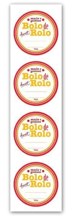 Etiqueta Adesiva Bolo de Rolo Cod. 4670 c/ 20 un. Miss Embalagens - Rizzo Embalagens