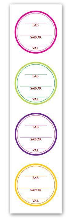 Etiqueta Adesiva Fabricação, Sabor e Validade Cod. 5554 - 20 unidades - Miss Embalagens - Rizzo Embalagens