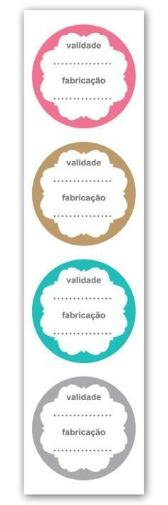 Etiqueta Adesiva Validade e Fabricação Cod. 5608 c/ 20 un. Miss Embalagens - Rizzo Embalagens
