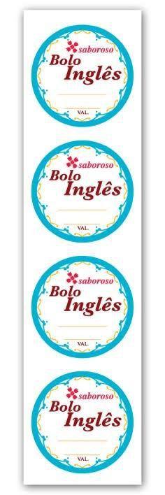 Etiqueta Adesiva Bolo Inglês Cod. 4687 c/ 20 un. Miss Embalagens - Rizzo Embalagens