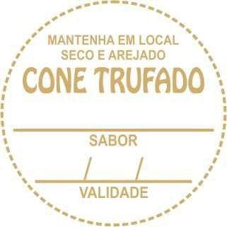 Etiqueta Cone Trufado sabor e validade - 100 unidades - Massai - Rizzo Embalagens