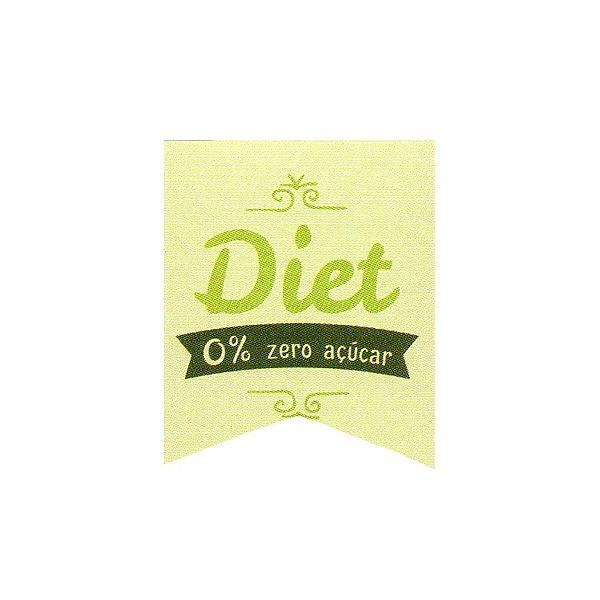Etiqueta Adesiva Diet Zero Açúcar Cod. 155 c/ 20 un. Papieri - Rizzo Embalagens
