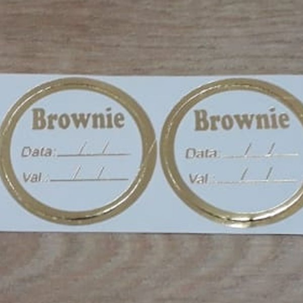 Etiqueta Brownie - 100 unidades - Decorart - Rizzo Embalagens