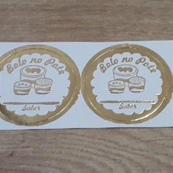 Etiqueta Bolo No Pote Sabor - 100 unidades - Decorart - Rizzo Embalagens