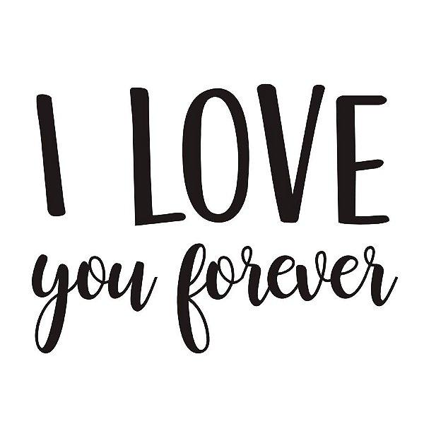Transfer Para Balão P - I Love You Forever - Cromus Balloons - Rizzo Festa