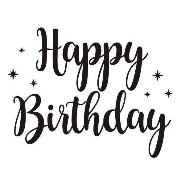 Transfer Para Balão P - Happy Birthday Estrela - Cromus Balloons - Rizzo Festa