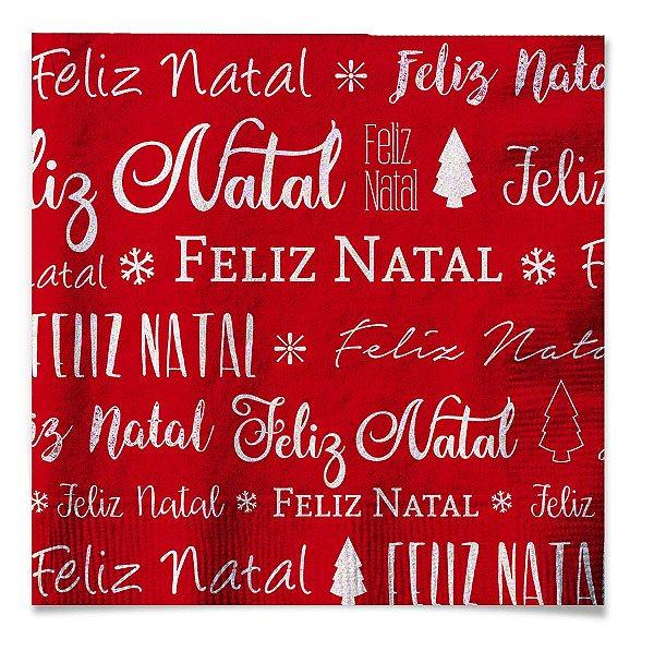 Guardanapo de Papel Feliz Natal 33cm - 20 folhas - Cromus Natal - Rizzo Embalagens