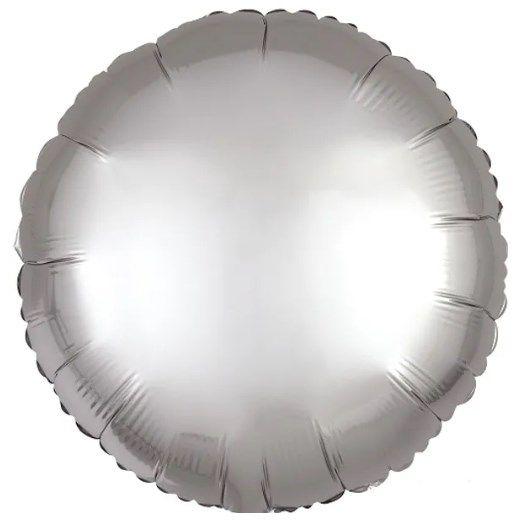 Balão Metalizado Redondo Liso 20'' 50cm - Cromado Platinum - Flexmetal - Rizzo Embalagens e Festas