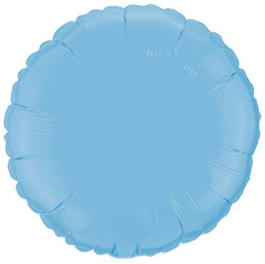 Balão Metalizado Redondo Liso 20'' 50cm - Azul Baby - Flexmetal - Rizzo Embalagens e Festas