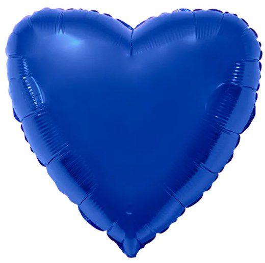 Balão Metalizado Coração Liso 20'' 50cm - Azul - Flexmetal - Rizzo Embalagens e FCoras