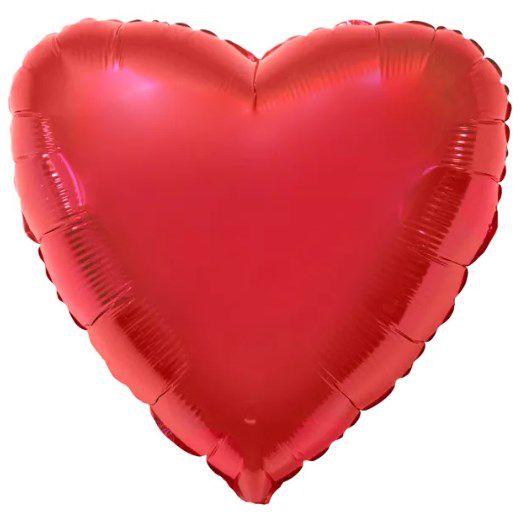 Balão Metalizado Coração Liso 20'' 50cm - Vermelho - Flexmetal - Rizzo Embalagens e FCoras