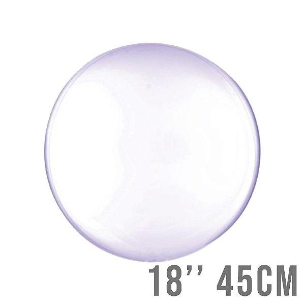Balão Bubble Clear Roxo 18'' 45cm - Cromus - Rizzo Embalagens e Festas
