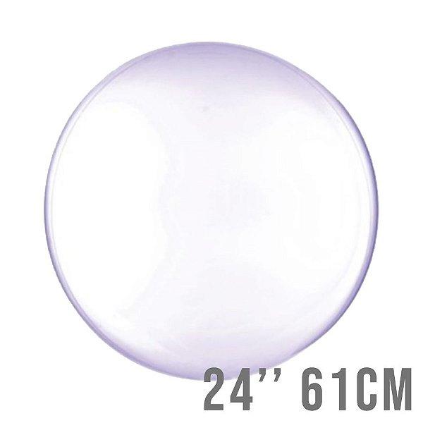 Balão Bubble Clear Roxo 24'' 61cm - Cromus - Rizzo Embalagens e Festas