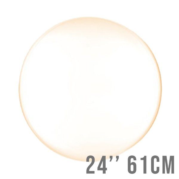 Balão Bubble Clear Laranja 24'' 61cm - Cromus - Rizzo Embalagens e Festas
