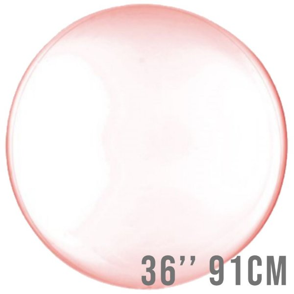 Balão Bubble Clear Vermelho 36'' 91cm - Cromus - Rizzo Embalagens e Festas