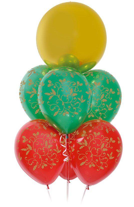 Kit Bouquet de Balões Feliz Natal para Você - Sempertex Cromus - Rizzo Festas
