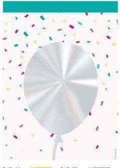 Saco Transparente Decorado Balão - 10x14cm - 50 unidades - Cromus - Rizzo Embalagens