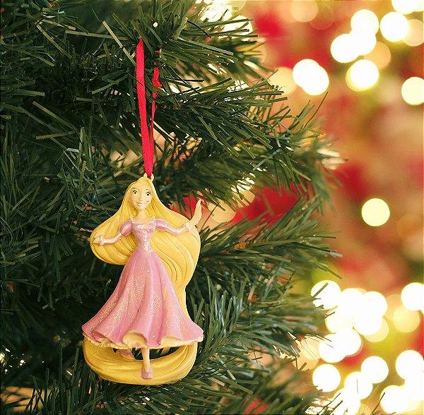 Enfeite para Pendurar Princesa Rapunzel 10cm - 01 unidade - Natal Disney - Cromus - Rizzo Embalagens