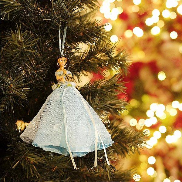 Enfeite para Pendurar Princesa Jasmine com Vestido 15cm - 01 unidade - Natal Disney - Cromus - Rizzo Embalagens