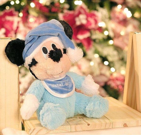 Mickey Baby de Pelúcia 22cm - 02 unidades - Natal Disney - Cromus - Rizzo Embalagens