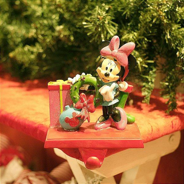 Suporte de Enfeite para Lareira Minnie 15cm - 01 unidade - Natal Disney - Cromus - Rizzo Embalagens