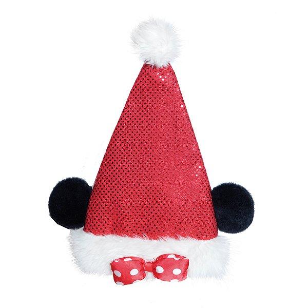 Gorro Ponteira de Árvore Minnie com Laço Vermelho 45cm - 01 unidade - Natal Disney - Cromus - Rizzo
