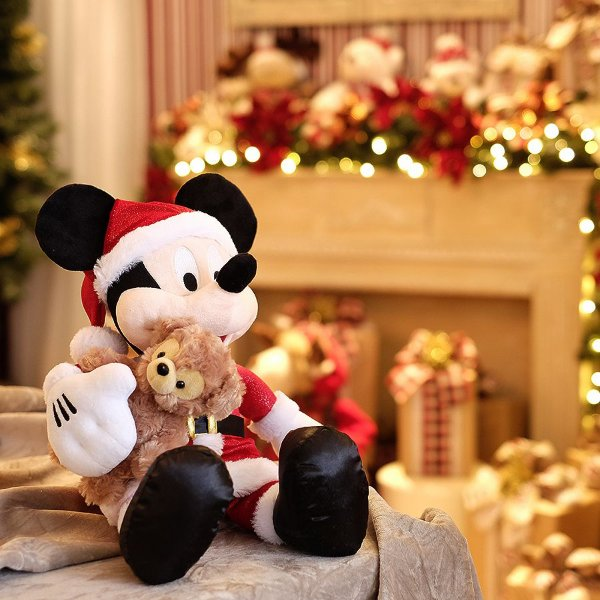 Mickey de Pelúcia e Urso 35cm - 01 unidade - Natal Disney - Cromus - Rizzo Embalagens