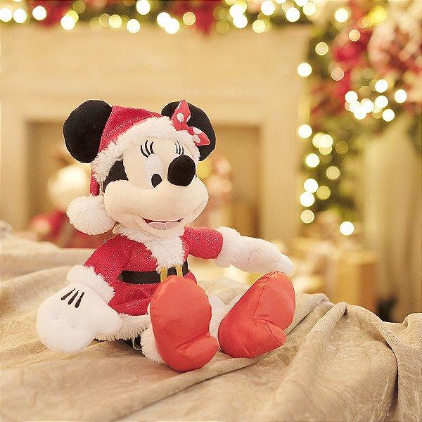 Minnie de Pelúcia Roupa Vermelha 45cm - 01 unidade - Natal Disney - Cromus - Rizzo Embalagens