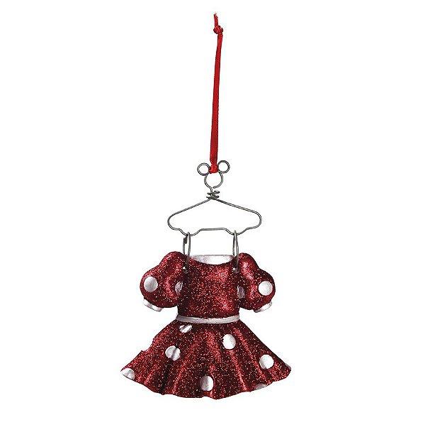 Enfeite para Pendurar Roupa Minnie 10cm - 01 unidade - Natal Disney - Cromus - Rizzo Embalagens