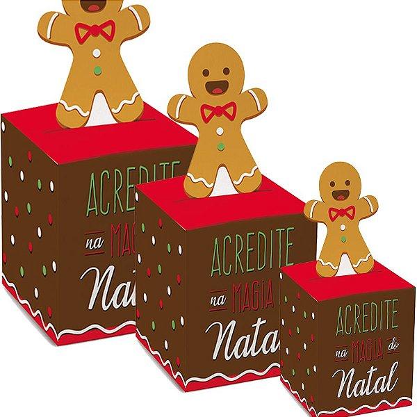 Caixa Panetone Pop Up Biscoito - 10 unidades - Cromus Natal - Rizzo Embalagens