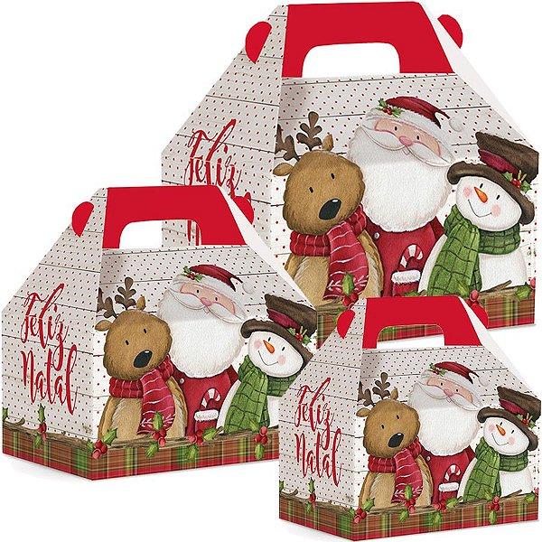 Caixa Maleta Kids Natal Turminha 10 unidades - Natal Cromus - Rizzo Embalagens e Festas