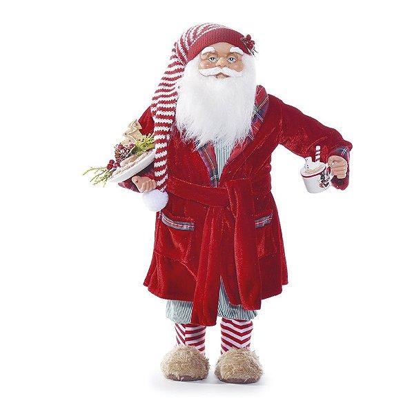 Noel com Roupão 45cm - 01 unidade - Cromus Natal - Rizzo Embalagens