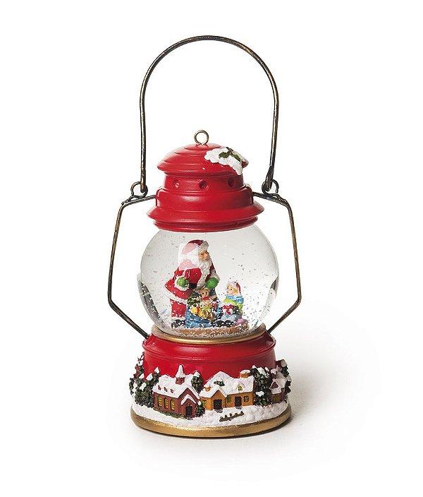 Bibelô Musical a Pilha Lanterna Decorativa Noel 15cm - 01 unidade - Cromus Natal - Rizzo Embalagens
