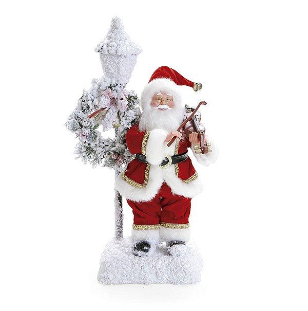 Noel Violino com Som Luz e Movimento 44cm - 01 unidade - Cromus Natal - Rizzo Embalagens