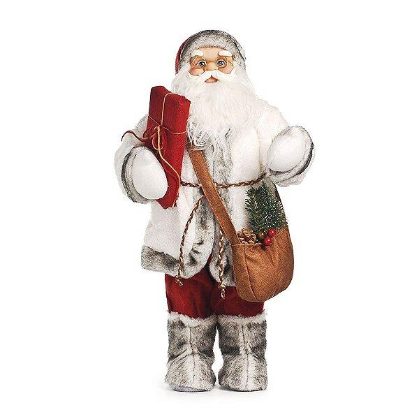 Noel em Pé com Botas de Pelúcia 60cm - 01 unidade - Cromus Natal - Rizzo Embalagens