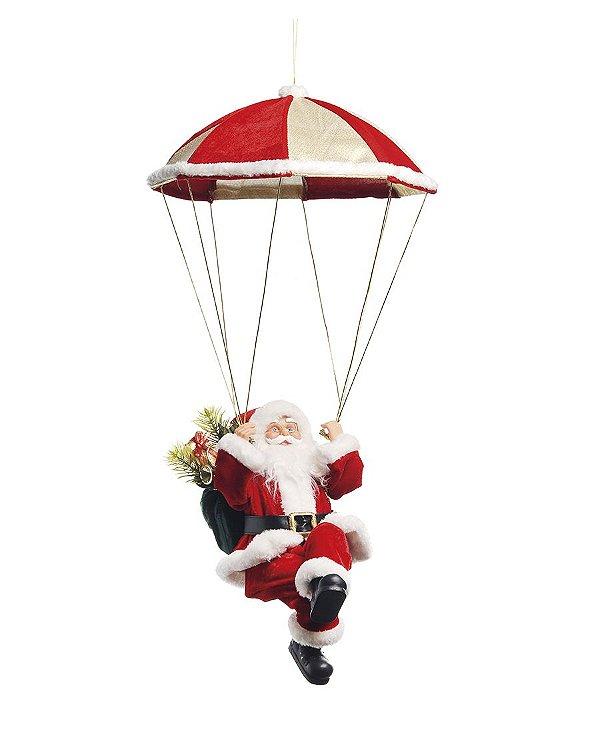 Noel Musical com Paraquedas 55cm - 01 unidade - Cromus Natal - Rizzo Embalagens