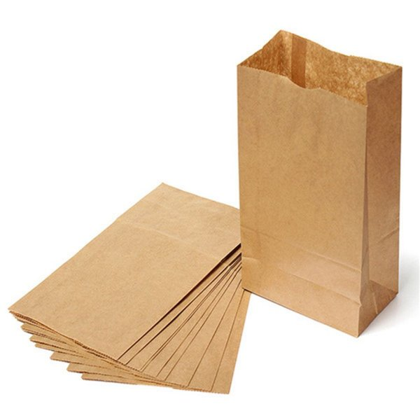 Saco de Papel Kraft Fundo Retangular 10 unidades - Rizzo Embalagens e Festas