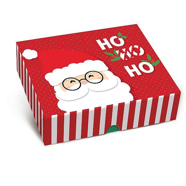 Caixa para Presente Tampa e Fundo - Ho Ho Ho - Cromus - Rizzo Embalagens e Festas