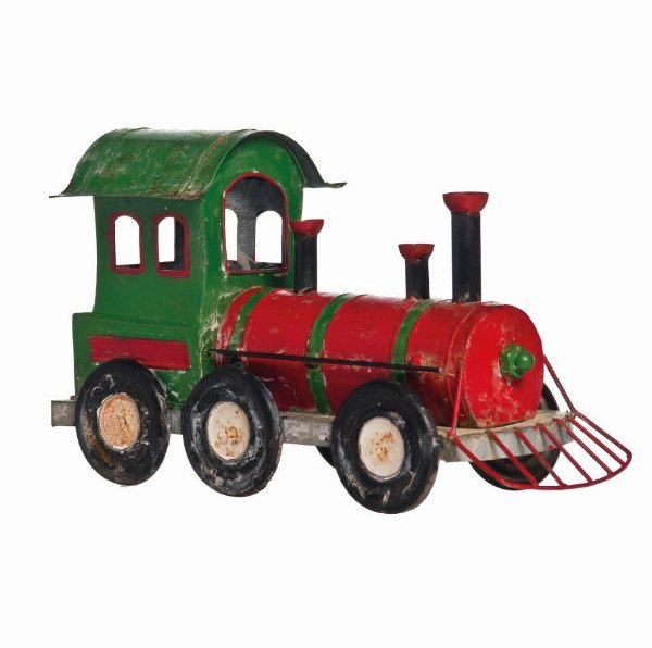 Locomotiva de Metal Decoração Natal 20cm x 35cm x 10cm - Natal Cromus - Rizzo embalagens