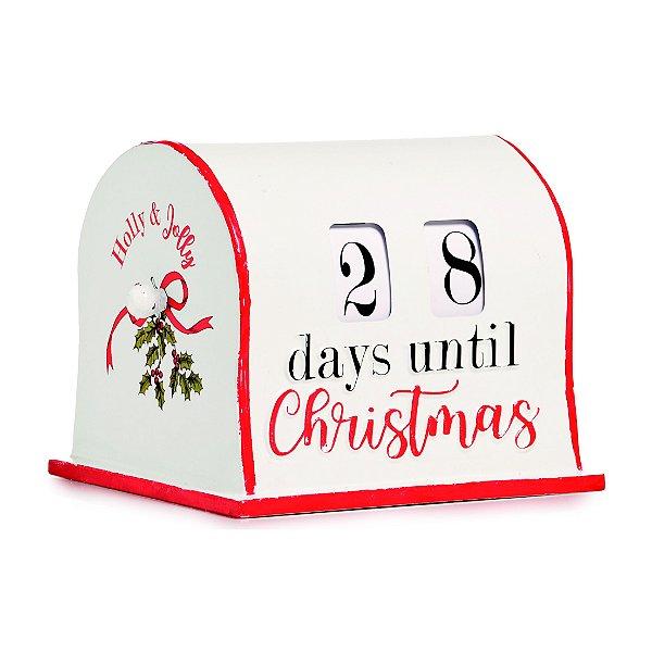 Calendário Natalino em Metal Rotativo 15cm x 20cm - Natal Cromus - Rizzo Embalagens e Festas
