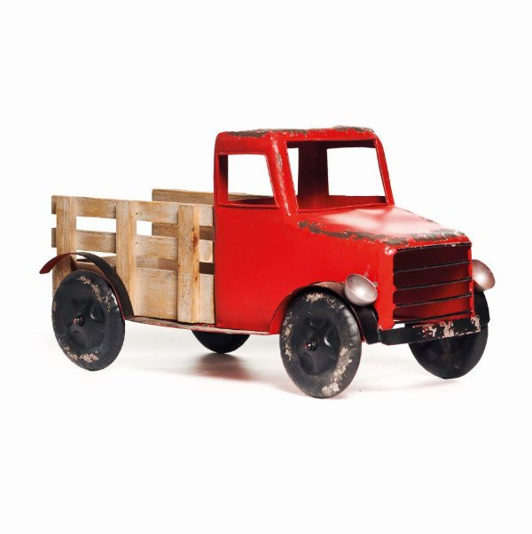 Caminhão de Metal Decoração Natal 25cm x 50cm x 20cm - Natal Cromus - Rizzo embalagens
