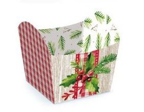 Mini Cachepot Tradição - 10 unidades - Cromus Natal - Rizzo Embalagens