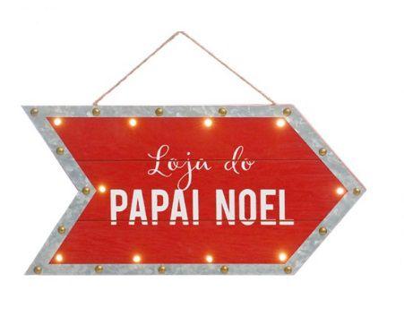 Quadro de LED Loja Noel - 01 unidade - Cromus Natal - Rizzo Embalagens