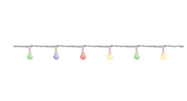 Cordão de LED Bola - 100 leds 8 funções 127v - Cromus Natal - Rizzo Embalagens
